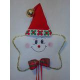 Estrella De Navidad En Tela Como Rosca Navideña