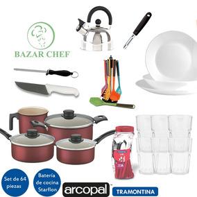 Juego Set De Vajilla Completo Tramontina 64 Pz - Bazar Chef