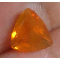 Opala De Fogo Amarelo Laranja 1,0cm X 1,0cm Com 1,60 Cts