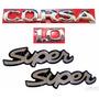 Emblemas Corsa Hatch 1.0 + Lateral Super - 1997 À 2002