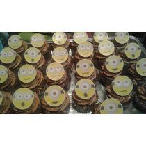 Topper Cupcake Comestible Papel Arroz Grueso, 24 Pza