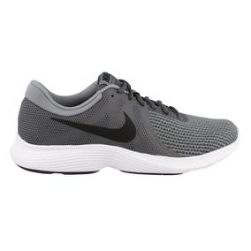 Nike Revolution 4 Hombre Running Gris Nuevas Deportivas