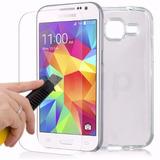 Case Tpu Silicone Celular Galaxy Win 2 Duos G360 + Pelicula
