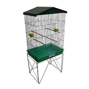 Viveiro Grande Para Pássaros Calopsita Canário Cor Verde