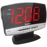 Radio Reloj Digital Westclox Numeros Gigante Am Fm Aux Sleep