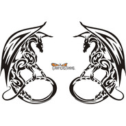 Calcomanía Dragon Tribal 03 - 2 Unidades - Graficastuning