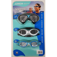 Gafas De Natacion Speedo Junior 6 - 14 Años, Set X 3