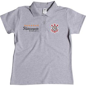 Camisa Polo Feminina Do Corinthians Torcedora Corinthiana