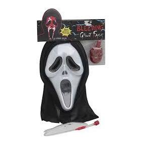 Máscara Pânico Com Capuz E Sangue