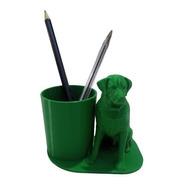 Cachorro Dog Porta Caneta Lápis Escritório Impressão 3d