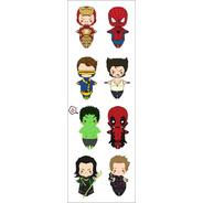 Plancha De Stickers De Marvel Spiderman Xmen Hulk Ironman 2