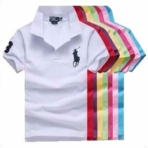 Kit Com 5 Camisa Polo Infantil Ralph Lauren Meninos
