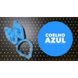 Fantasia Orelhas Do Coelho Da Páscoa - Azul - Feita À Mão!