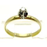 Joianete A9313-16435 Solitário Ouro 18k Ouro Branco Brilha