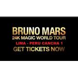 Bruno Mars Cancha 1 - Entradas Cancha 1