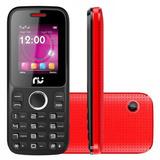Celular Riu 1, Desbloqueado Vermelho E Preto, 2 Chips, Rádio