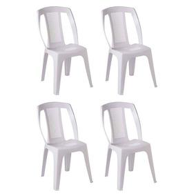 Kit 20 Cadeiras Bistô Paris Dolfin Empilhavél Branca