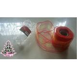 Malla O Cintas De Navidad Para Arbolito (7cm X 731.72cm)