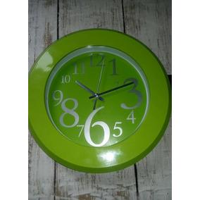 reloj de pared analogico moderno numeros grandes