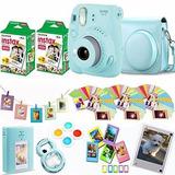 Fujifilm Instax Mini 9 - Cámara Instantánea De Color Azul Hi