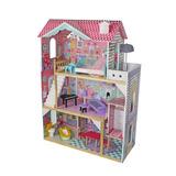 Casa De Muñecas Madera 3 Niveles 12 Muebles / Barbie / 119cm