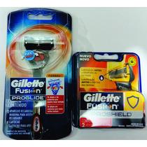 Kit Gillette Fusion Proglide Aparelho + Carga Dias Dos Pais