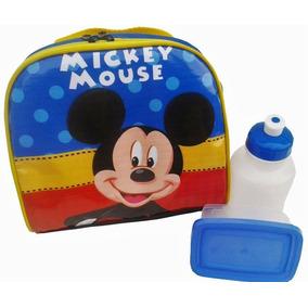 Lancheira Mikey Ou Minnie Disney Com Garrafinha Squeze Top