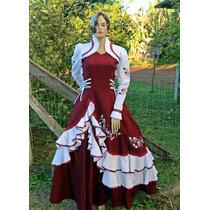 Vestido De Prenda Gaúcha Adulto P À Xxg Mod. Kauana