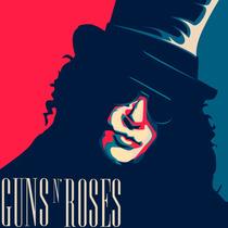 Guns N Roses: Slash - Quadros Decorativos 25x25cm