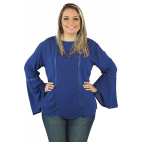 Blusa Realist Aquamarine Plus Size Roupa Para Gordinha