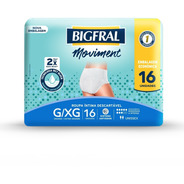 Kit Roupa Íntima Bigfral Moviment G/xg - 64 Unidades