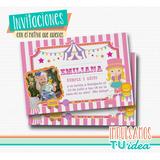 Cumple Circo - Invitación Circo Nena Para Imprimir