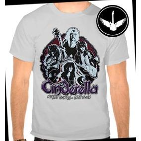 Camiseta Cinderella Baby Look Regata Hard Rock Night Songs