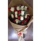 Ramo De 24 Rosas Mixtas Envio Gratis Floreria Foto Real