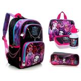 Kit Mochila Monster High Pulseira Tam G Costas Sestini 16y01