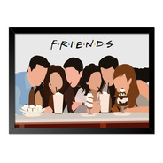 Quadro Poster Seriado Friends Milk Shake 33x23cm