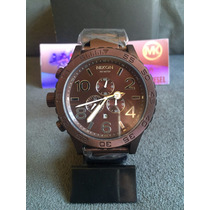 Relogio Nixon 51-30 Chrono Brown 100% Original 12x S/ Juros