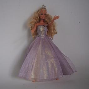 Boneca Barbie Antiga Com Vestido De Festa- Coleção