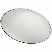 Espelho Convexo 80 Cm Acabamento Em Alumínio Com Suporte