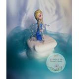 Adorno Ambientación Candybar Elsa Frozen Porcelana Fría