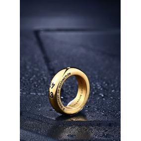 Anel Aliança 1314 Amor Aço 316l Dourado O Par