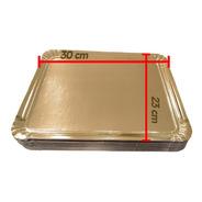 Bandeja Cartón Dorada P/tortas 1 Kg X 50 Uni. Plato Dorado