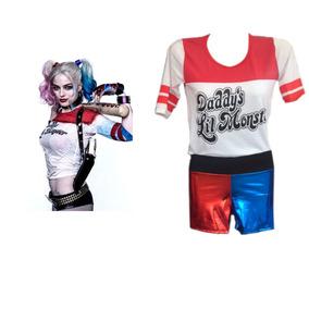 Disfraz Harley Quinn- Adultos Y Niñas- Escuadron Suicida