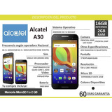 Alcatel A30 2gb Ram 16gb Memoria Camara 8pm Y 5pm Android 7