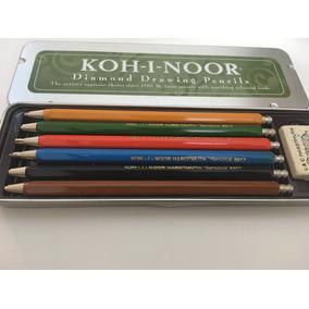 Lapiseira Koh I Noor Com Apontador - Estojo Com 6 Cores