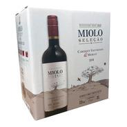Vinho Tinto Miolo Selecão Cabernet Sauvignon Box 3 Ltos