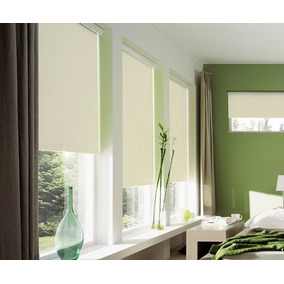 Cortinas Roller Black Out Blanca Fabrica, (1,60 X 1,80)