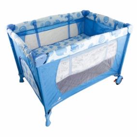 Berço Cercado Desmontável Cabana Mosquiteiro Color Baby Azul