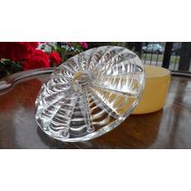 Bella Caja Bombonera Vidrio Labrado 13 Cm Art Decó Impecable
