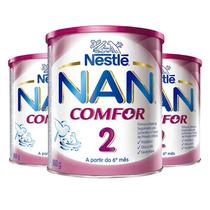 Kit: 3 Leite Em Po Nan Comfort 2 Formula Infantil 800g